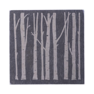 Birch Tree Coaster set of 4   River Slate Company